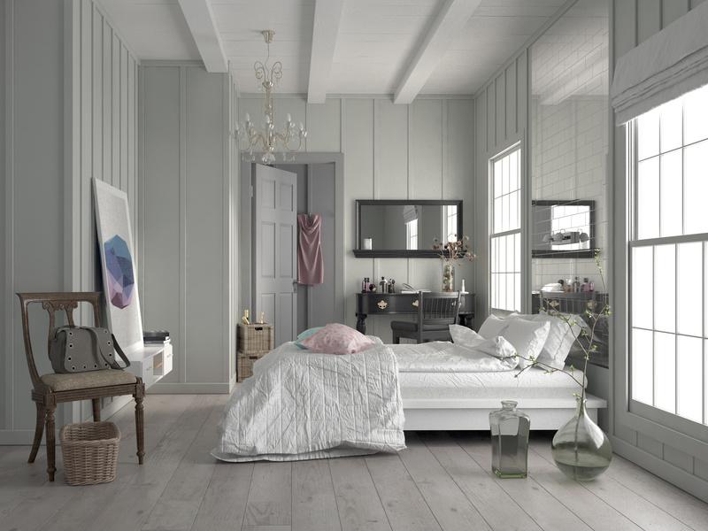 białe wnętrza, pokój w bieli