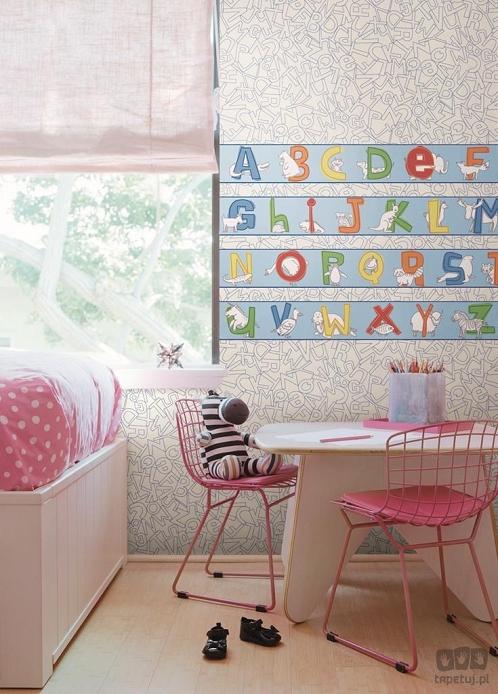 tapeta ścienna literki dla dzieci